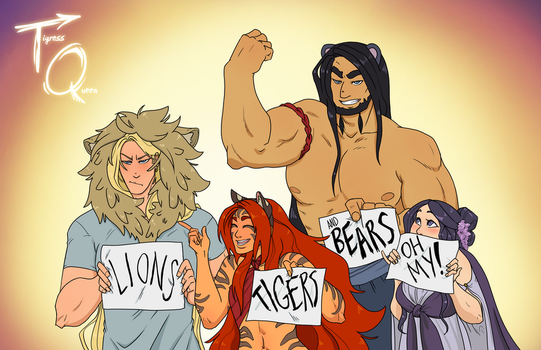 Lions, Tigers, And Bears, Oh My! by Eupraxia
