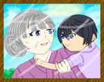 Haru With Grandmother by xxthecatluverxx