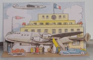 Sur L'Aerodrome - French vintage papercraft by SarienSpiderDroid