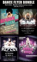 Dance Party-Club Flyer templates Bundle by Hotpindesigns
