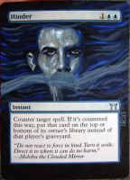 Magic Card Alteration: Hinder 10-11 by Ondal-the-Fool