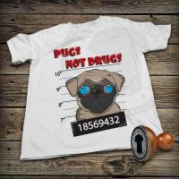 Funny T-shirt - Pugs not Drugs by DiegoArragon