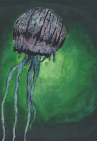 Jellyfish Watercolor by NegativeSanction