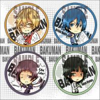 Bakuman buttons by Quiss