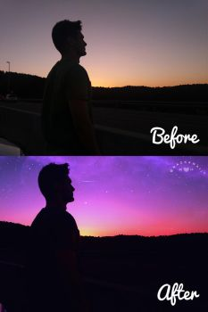 Before/After photoedition by Naokawaii
