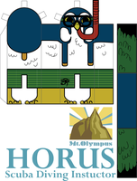 Horus: Paper Toy by Disty