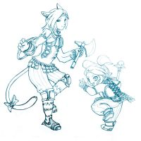 Rini and Ditsy WIP by RinTheYordle