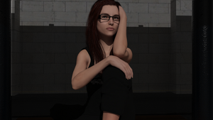 Taylor Hebert - Glasses On by James-D-Fawkes