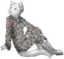 Greyscaled pose for wolf by Lunarwolf237