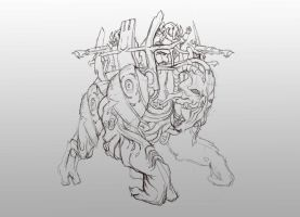 Reaper Elcor/Volus sketch by AndrewRyanArt