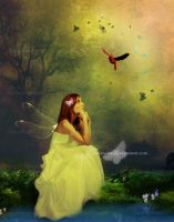 The Little Bird Red by maiarcita