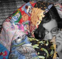 Sara and Her Quilt by PinkSweaterVest