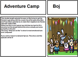 Journal of Good Animation: Boj - Adventure Camp by CyberFox
