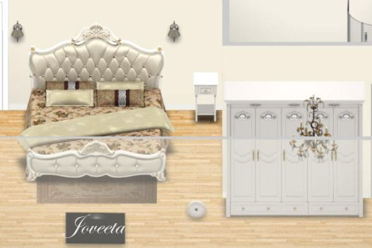 French Style Bedroom Interior by Jovv