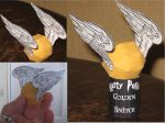Golden Snitch Papercraft by paperart