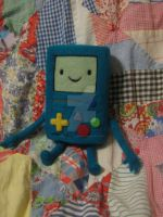 My Needle Felted Beemo/Bmo Plushie in Progress by CatsFeltLings