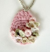 Crochet Light Pink Necklace by meekssandygirl