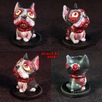 Zombie French Bulldog Ooak by Undead-Art