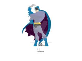 Minimalist Batman Drawing by NobelCartoonist