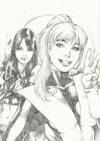 Kitty and X 23 selfie by Deilson