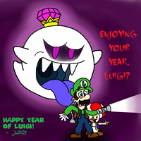 Luigi's Encounter of the Boo Kind by JewFro29