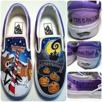 Nightmare before Christmas Shoes by hcram5