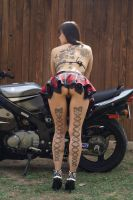 Bikes and tattoos by MiatsuKumiko