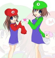 Super Mario Sisters by Potatoheart