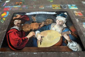 Ode to Caravaggio by AmazingStreetPaint
