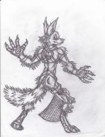 armored fox guy by yagami246