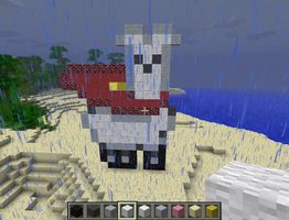 Super Albino Llama! by highlightthedark