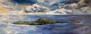 The Isle of Muck as seen from Eigg by nimbway