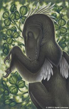 Deinonychus Five Of Clubs by kyoht