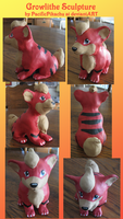 Pokemon Growlithe Sculpture by PacificPikachu