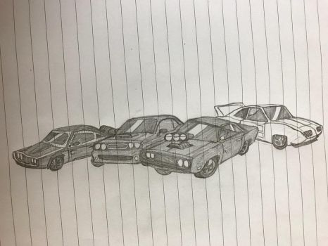 The Fast and the Furious cars of Furious by kakeru30