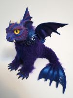 purple finned dragon by kimrhodes