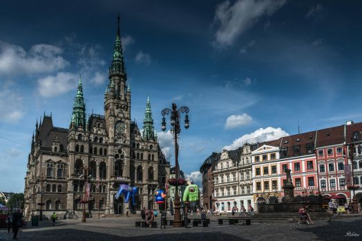 Czech paradise - Liberec the Cathedral in the main by Rikitza