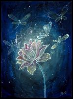 The flower for the moon by NataliRusanova