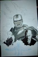 Ironman Art Jam in progress by joewight