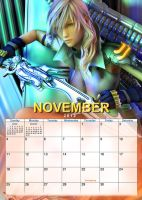 2012 Nov Lightning by mycalendar
