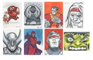 sketch cards by mikeorion22