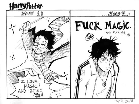 Harry's Magical Dichotomy by incaseyouart