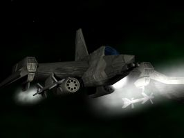 space fighter by Kluwe