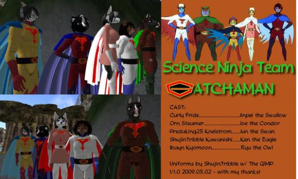 Second Life GATCHAMAN outfits by ShujinTribble