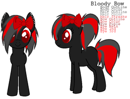 Pony Adopt - Bloody Bow by xPixels-Puff-Adoptsx