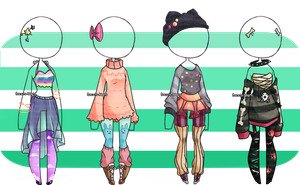 Outfit Adopts #1 (CLOSED) by Biscuits-Adopts