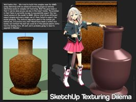 MMD SketchUp Vase Texturing Problem by Trackdancer