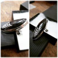 Orthoceras fossil in Sterling Silver by Ryvienna