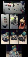 Sculpey Otto and Victoria by Redhead-K