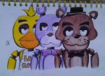 FNAF-Freddy, Bonnie and Chica by NicteJeffMephiles